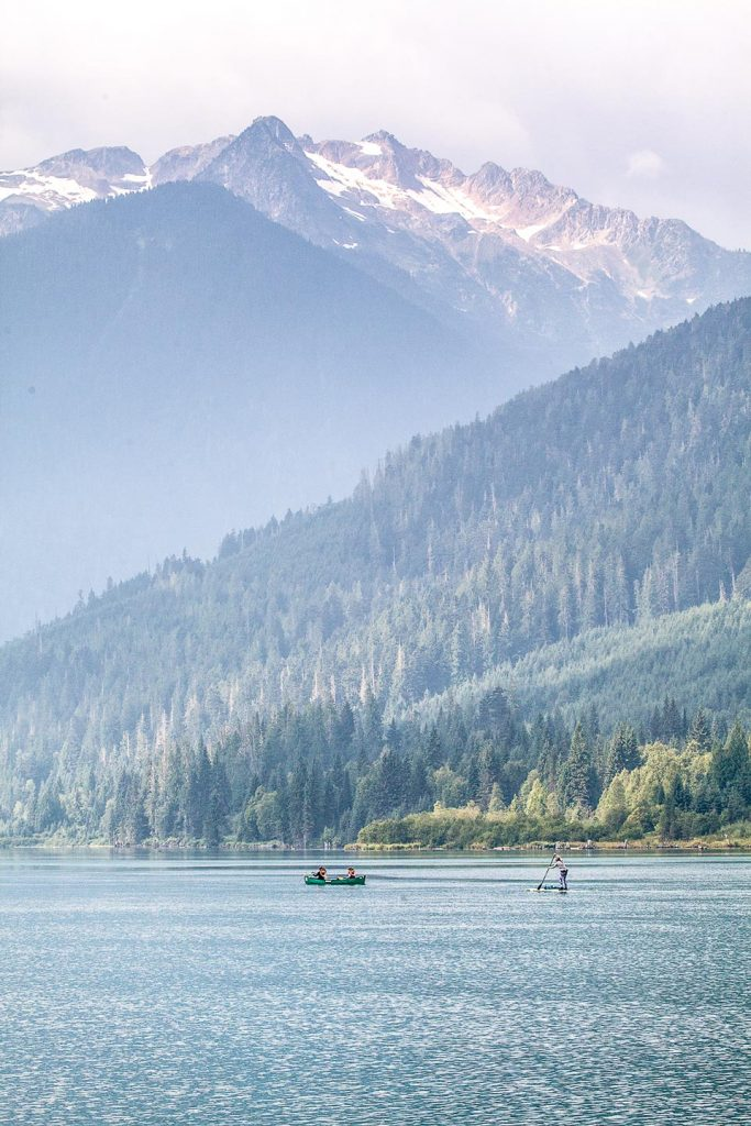 Glaciated peaks of Lake Revelstoke. Photo: Rob Buchanan