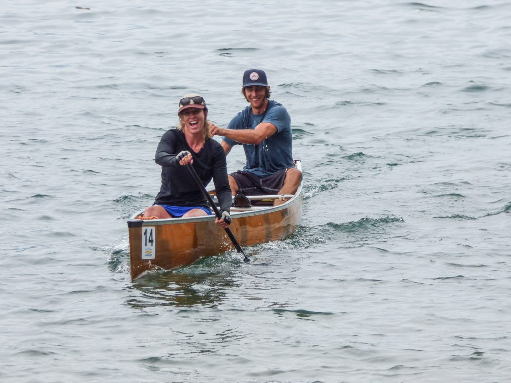 The joy of finally figuring out how to paddle. Photo by Rob Buchanan