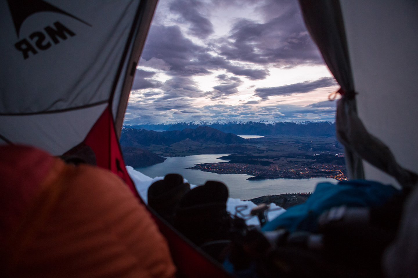 Tent with a view over Wanaka