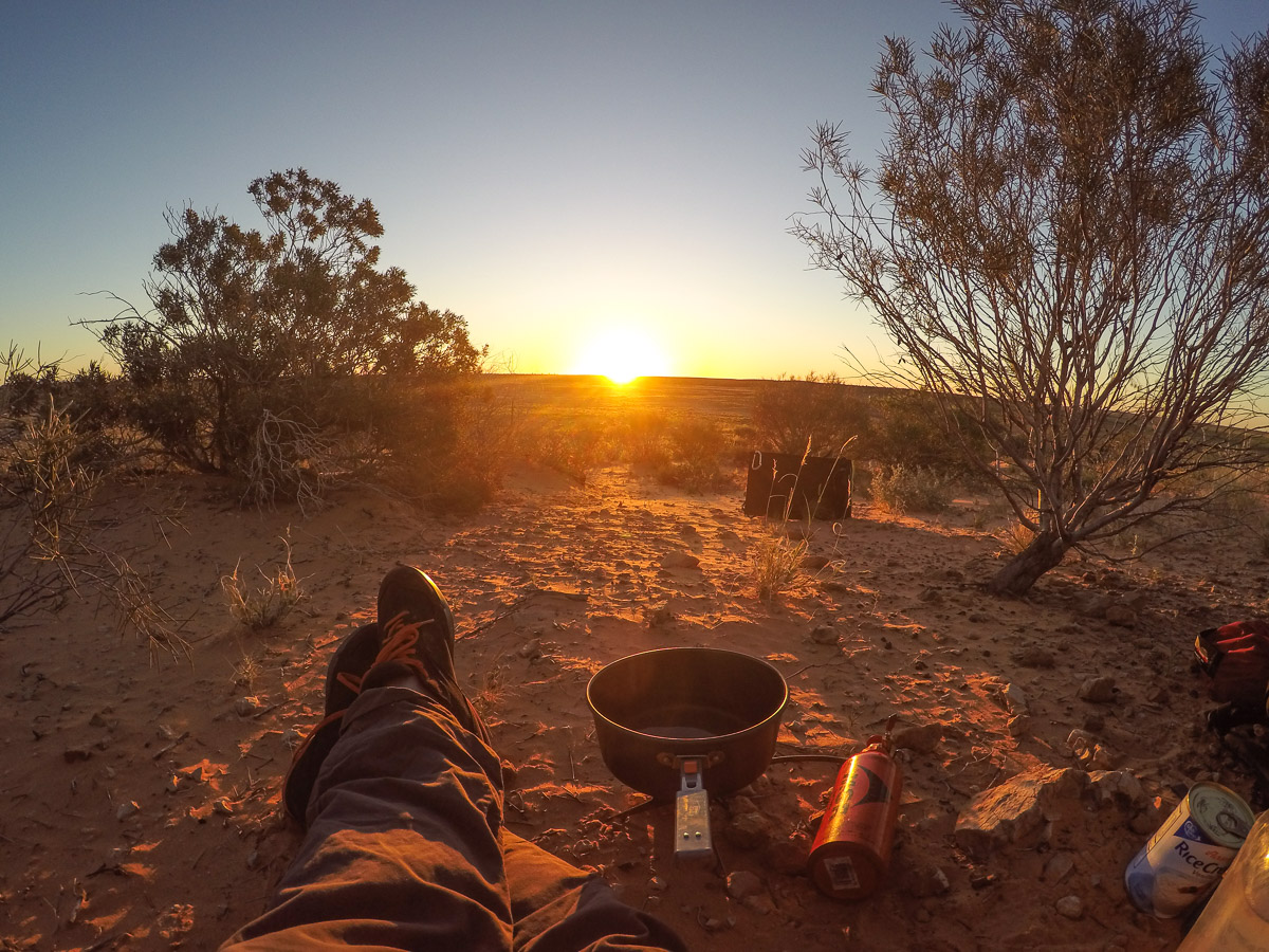 Kitchen with a view in the Australian Desert