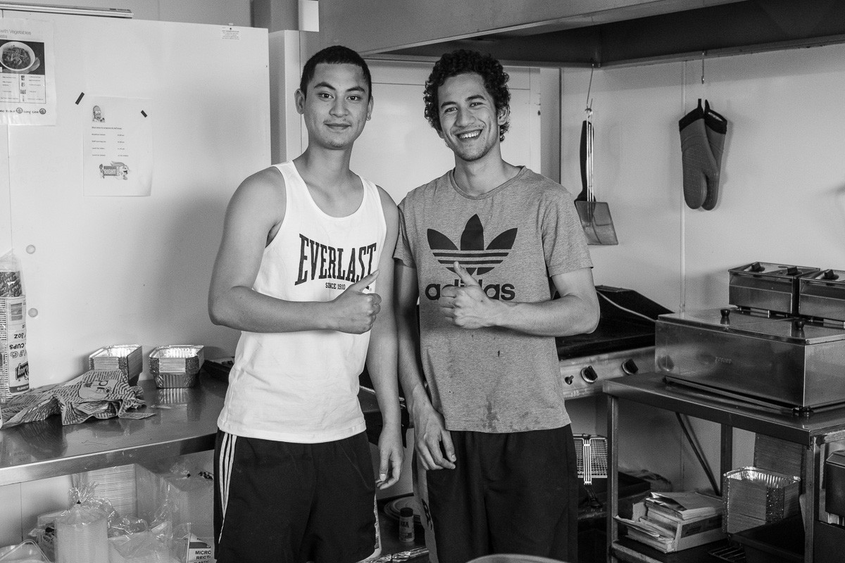 Jason and his brother. They cooked me the best burger after 8 days in the Australian desert.