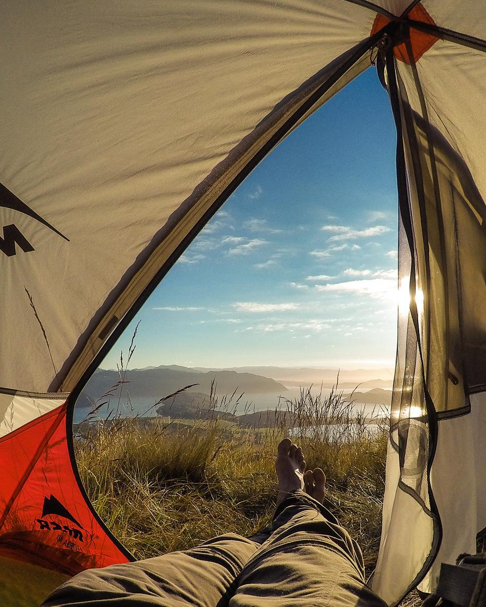 Sunrises from the tent are the best!